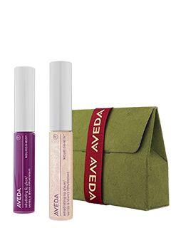 Give Smiles. Nourishing lip gloss in two joyful shades. #GiveAveda