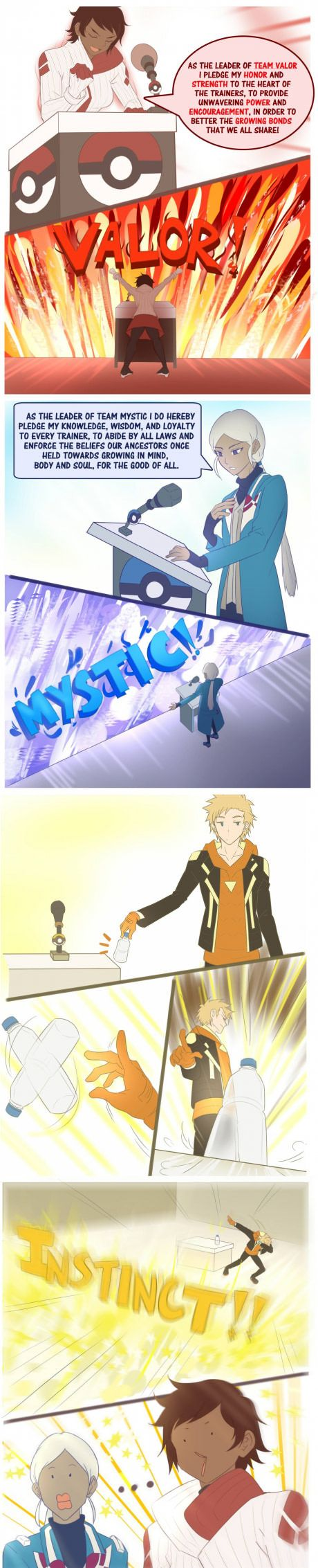 Make Your Choice...> know wonder my brother choose instinct.. he can flip bottles and I can't D: