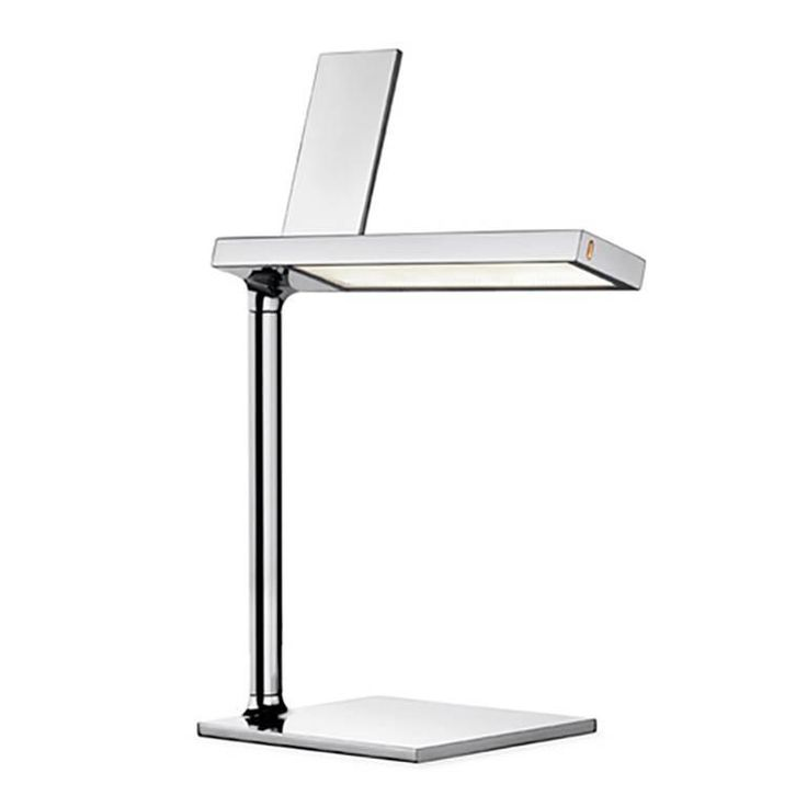 Silver Du0027E Light Table Lamp Phone Charger By Philippe Starck For Flos,