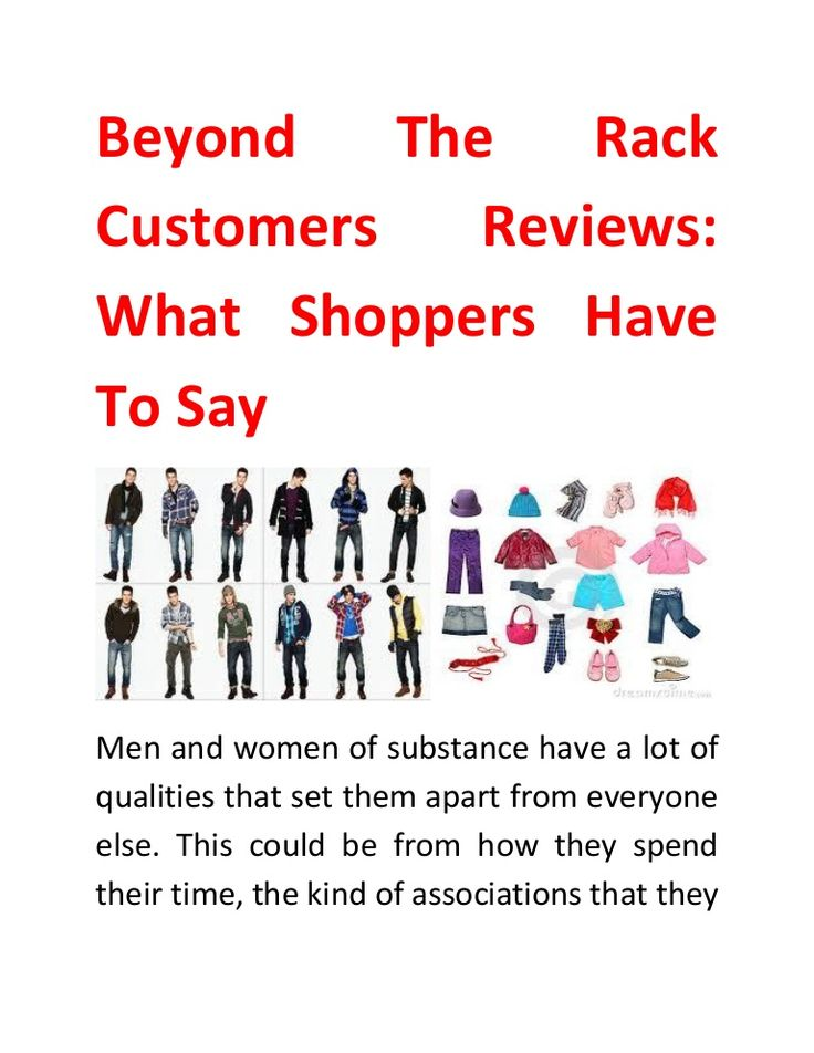 If Beyond the Rack customers' reviews are to be believed, it is one of a kind website that provides authentic designer clothes at extremely reasonable prices.