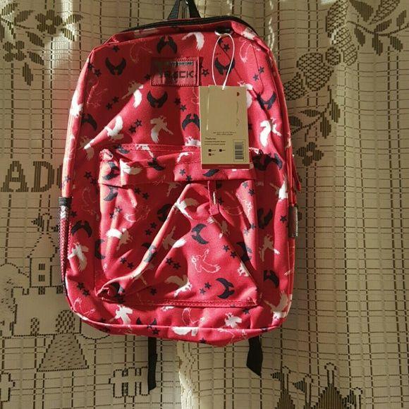 "Track usa backpack Red. 16'5"" * 13"" * 5"" Bags Backpacks"