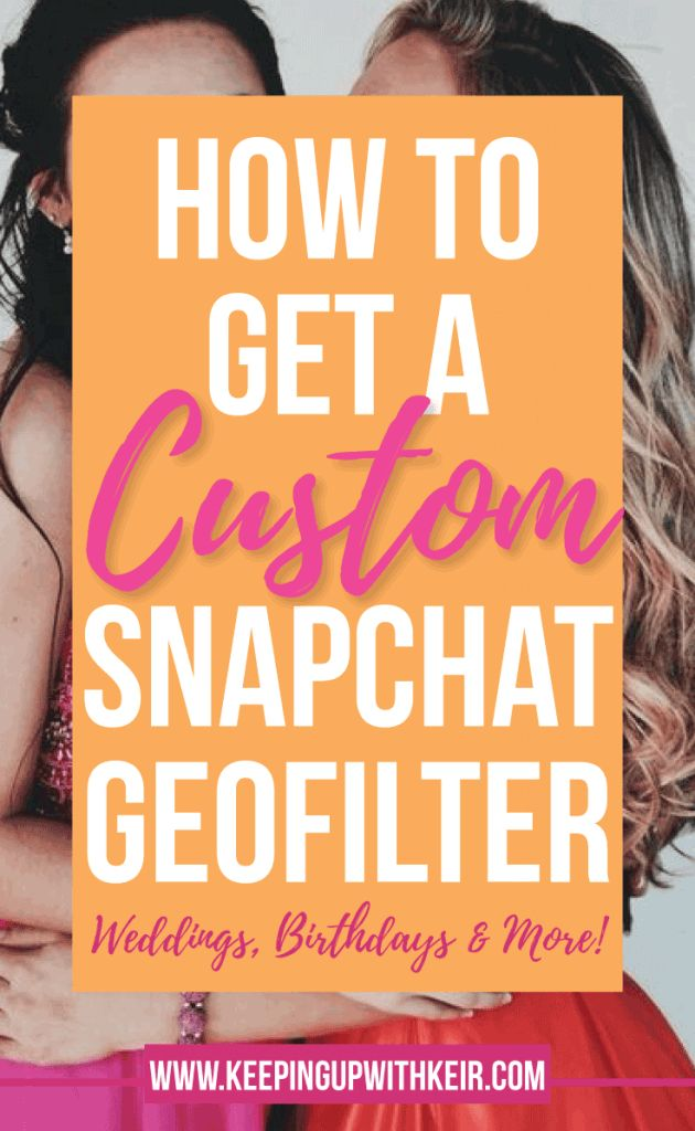 How To Get Your Own Snapchat Geofilter. Custom Birthday Filters, Custom Wedding Filters. How to upload a custom geofilter to snapchat. Also, the best snapchat geofilter shops! one stop shop for personalized snapchat geofilters.
