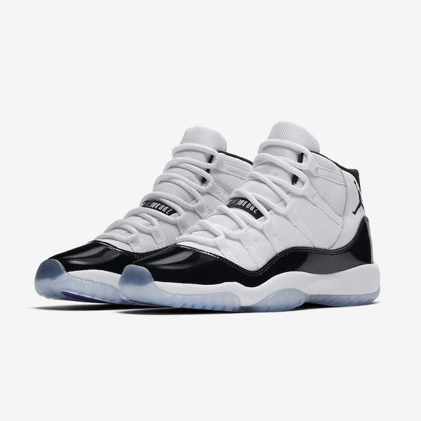 Nike Air Jordan Retro XI 11 2018 Concord White Black GS 378038-100