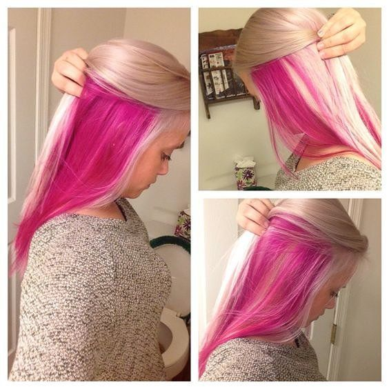 Lovely Pink and blonde hairI think maybe i should dye the hair buy hair…