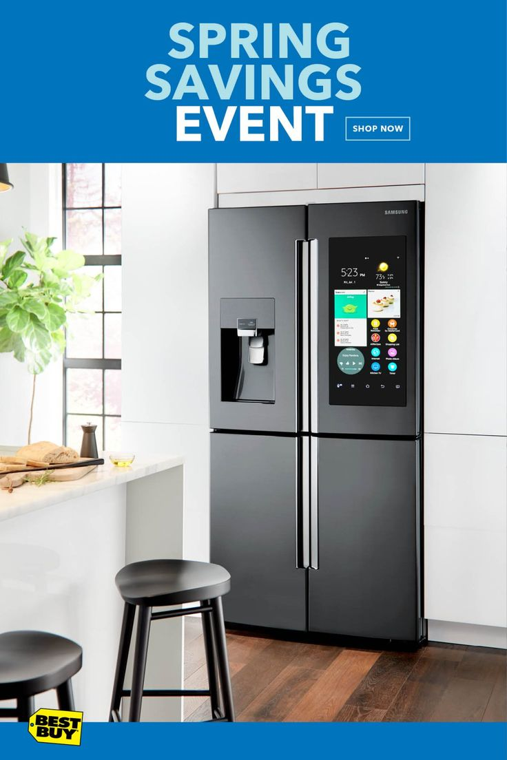 With the Samsung Family Hub Refrigerator, you can stay connected to shopping lists, schedules, and notes seamlessly from fridge to phone. Get up to a $500 Visa Reward card by mail from Samsung with qualifying Samsung purchase. Offer valid 3/1/18—5/16/18.