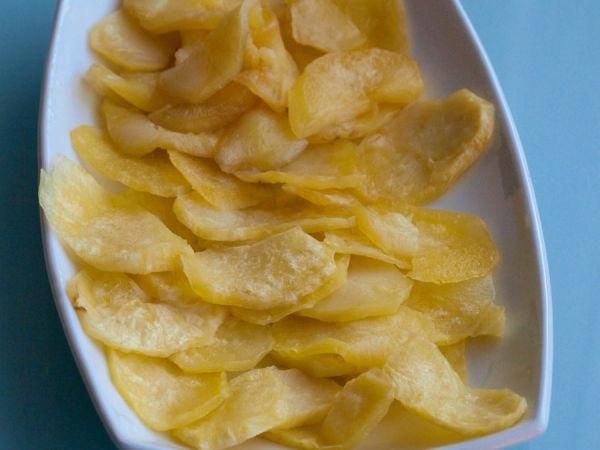 Aperitivos  Patatas fritas rápidas microondas