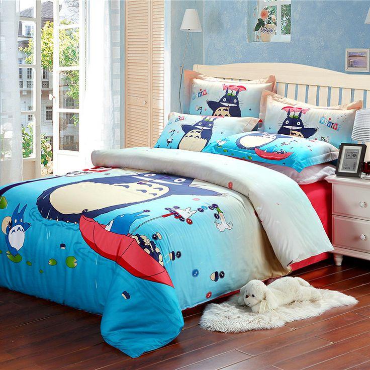 Totoro bed pattern