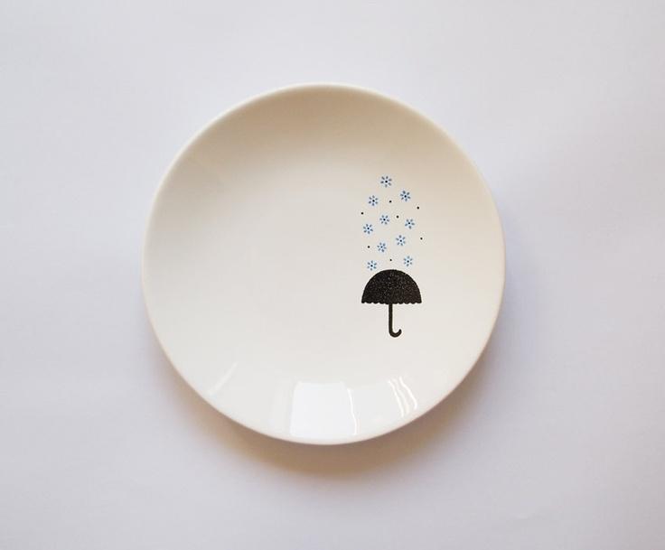 Blue rain candy dish. $40.00, via Etsy.