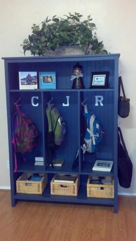 Backpack Locker Cabinet | Do It Yourself Home Projects from Ana White