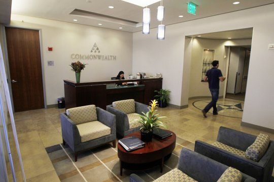Financial Office Lobby   The lobby area at the San Diego office of Commonwealth Financial ...
