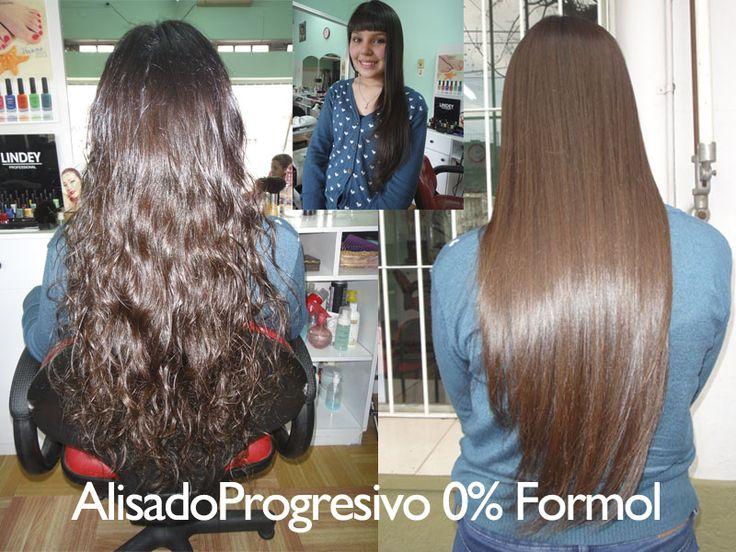 Antes y después sobre cabello virgen