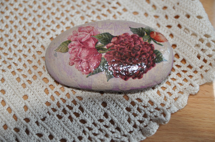 Decoupage stone