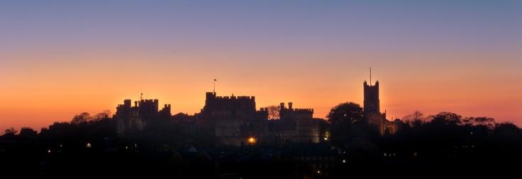 Lancaster Castle at Sunset