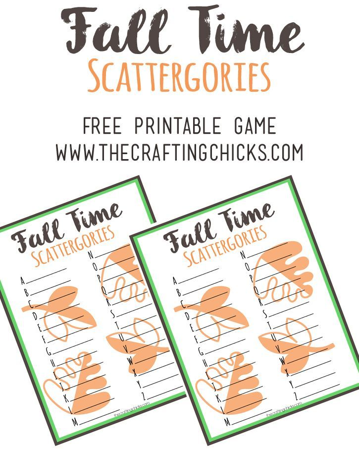 Christmas Party Icebreaker Games For Adults: Fall Scattergories Game & Free Printable