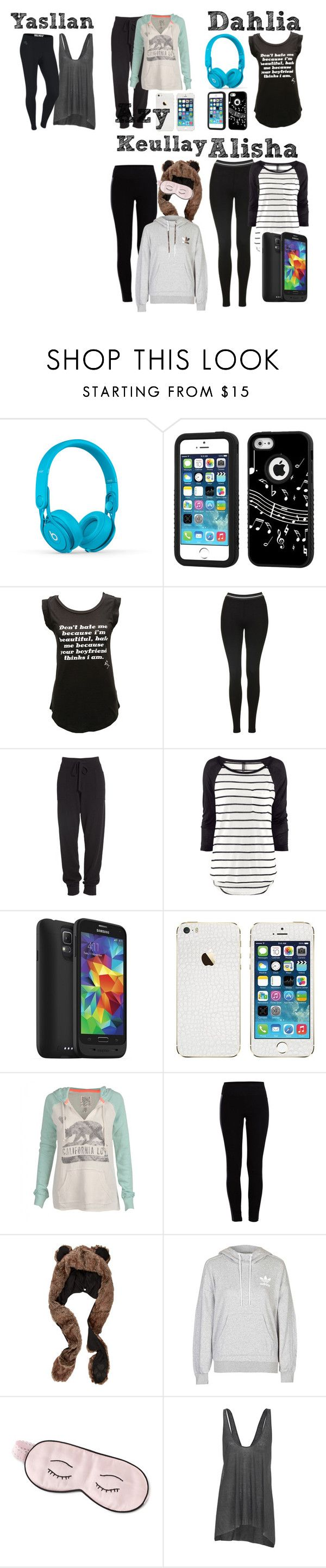 """""""Garotas { Family Bilker }"""" by moreninhapequena ❤ liked on Polyvore featuring Beats by Dr. Dre, Music Notes, Betsey Johnson, Topshop, Donna Karan, H&M, Mophie, Billabong, Pieces and adidas"""