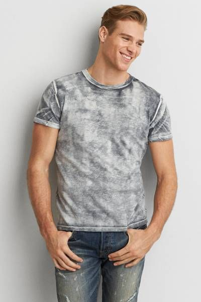 AEO Bleach Wash T-Shirt  by AEO | Your favorite T, now even better than ever with a new classic fit. Washed for softness