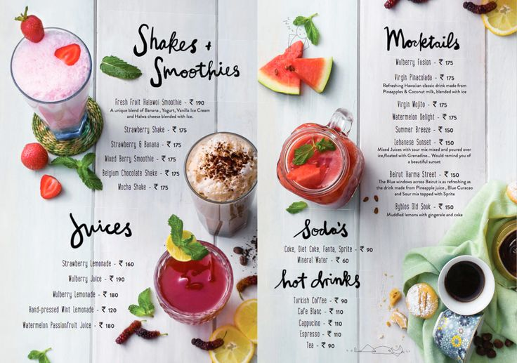 Visuals for the new menu launched by Zizo India - designed by Lara Atkinson.