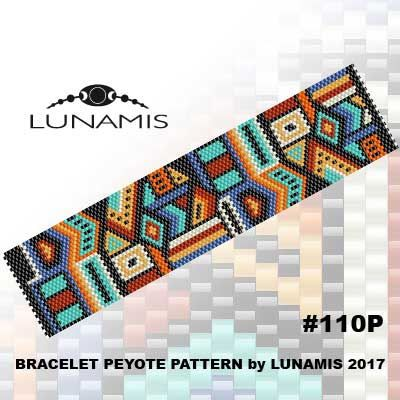 Bracelet peyote patterns made with size 11/0 Miyuki Delica seed beads Width: 1.54 (29 columns) Length: 6.5 Colors: 7 Patterns include: - Large colored numbered graph paper (and non-numbered in another files) - Bead legend (numbers and names of delica beads colors ) - Word chart - Pattern preview This pattern is intended for users that have experience with odd count peyote and the pattern itself does NOT include instructions on how to do this stitch. 1 JPG & 1 PDF files: (Instant do...