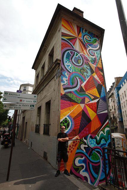 tall skinny street art