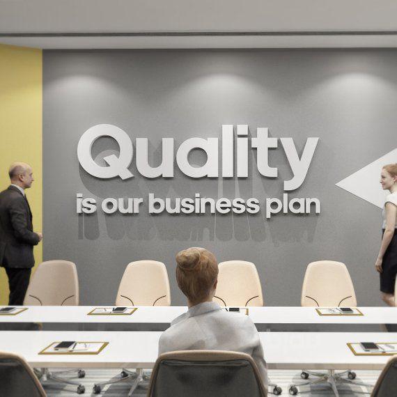 la qualite est notre business plan motivation wall art pour la maison ou au bureau motivation lettrage bureau decor decor de citation de motivation