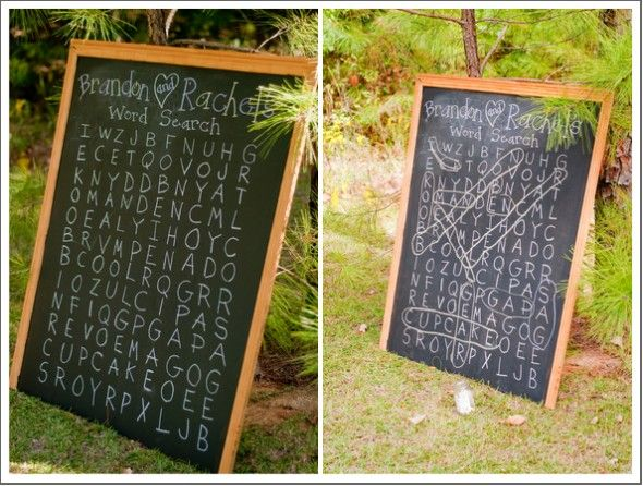Love this idea for an outdoor reception activity; might be more difficult/too rustic indoors?