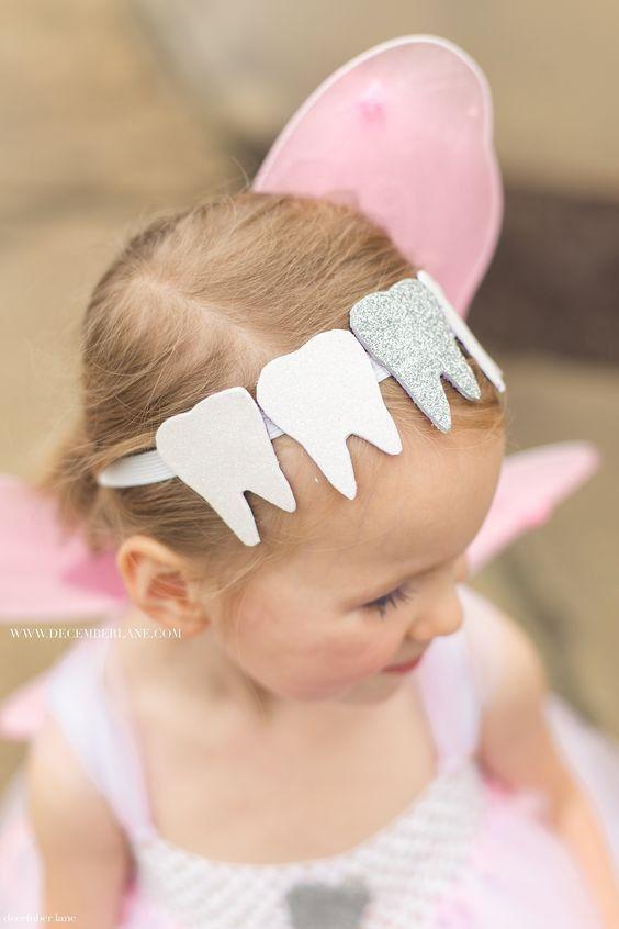 Cute tooth fairy headband. #dentistry #halloween