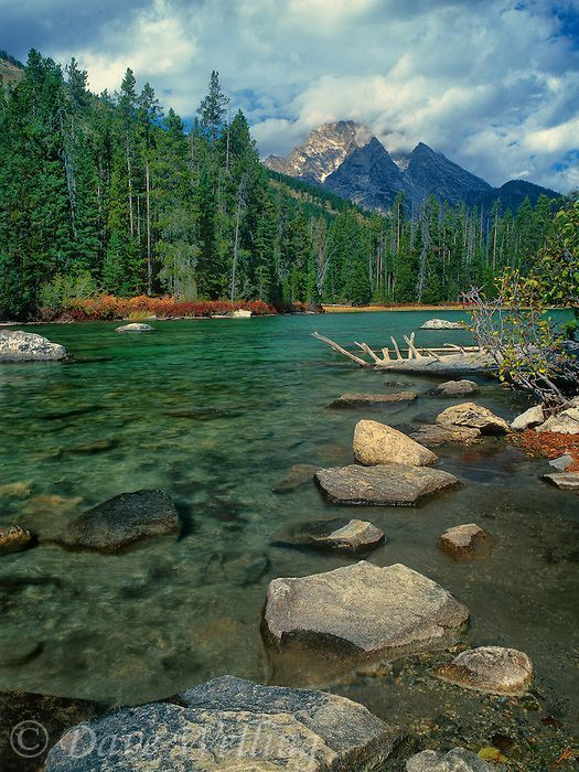 Leigh Lake, Grand Tetons National Park, Wyoming by Dave Welling