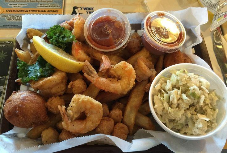 Shrimp & Scallops Basket, J. Michael's Restaurant, Panama City Beach, Florida