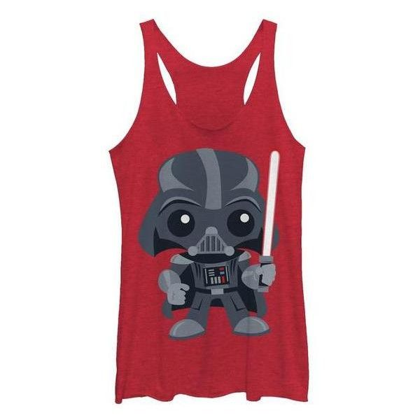 Women's Womens Star Wars Kawaii Cutie Tanks XS Vader Cutie Graphic... ($19) ❤ liked on Polyvore featuring tops, red, tops & tees, graphic tank tops, red tank top, galaxy print tank top, graphic print top and red tank