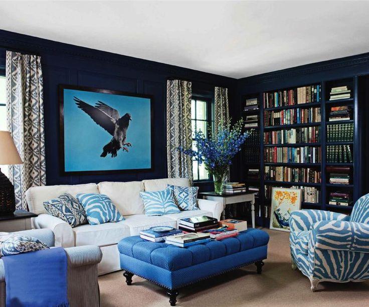 Blue Living Room Or Den Ideas