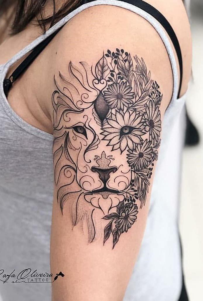 150 Tatuagens de leão Femininas e Masculinas Tatuagem