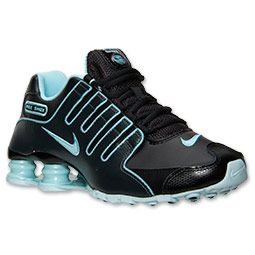 Women's Nike Shox NZ EU Running Shoes | FinishLine.com | Black/Glacier Ice/Anthracite