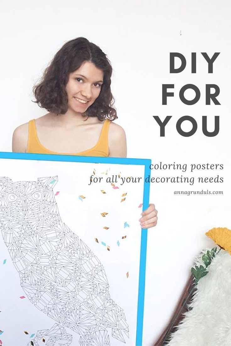 Are you a DIY lover and always on the lookout for new DIY projects? We have one for you! How about a coloring poster? These are available with all kids of different themes - owls, turtles, mandalas, maps! See for yourself and choose the theme you love ;)