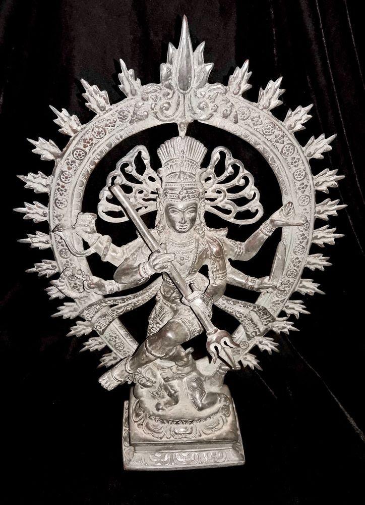 Lord Of Dance Creator Shiva Nataraja God Bronze Brass Statue Meditation Yoga Art