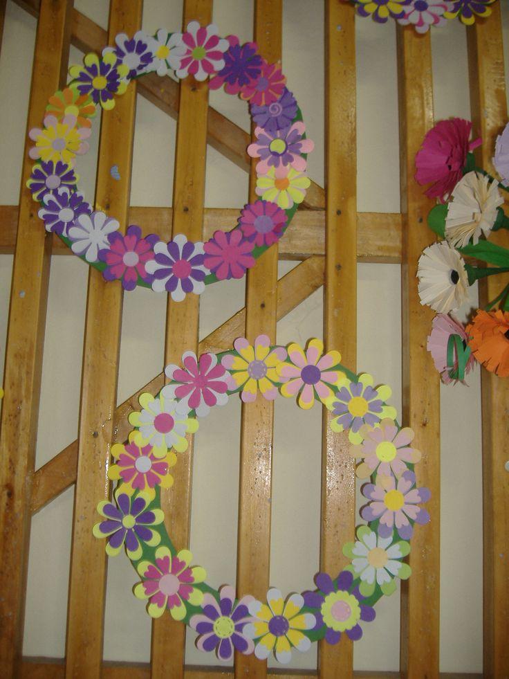 tavaszi virágkoszorú