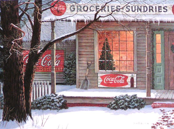 Jim Harrison Signed Print Coca-Cola and Snow - Bing Images