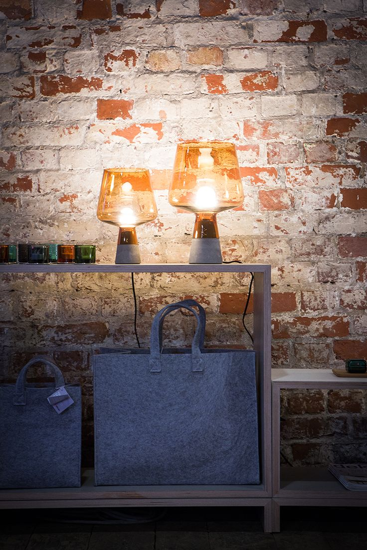 Iittala Leimu lamp at the Launch & Shop store by Finnish Design Shop in Katajanokka, Helsinki. Photo by Ville Malja.