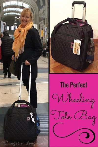 Travel tote with wheels|Wheeled carry on| Luggage review|luggage for women
