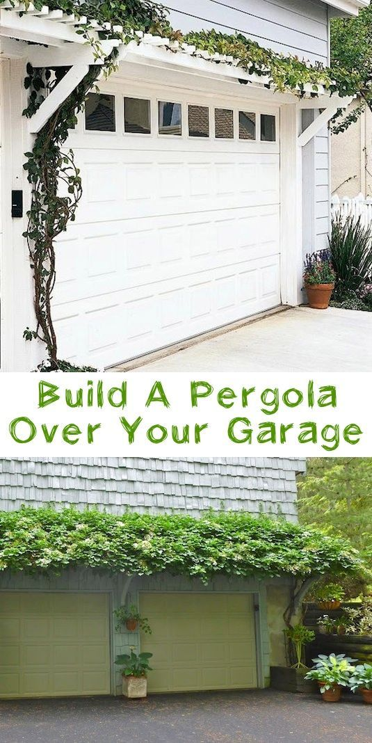 #12. Add a pergola over your garage! ~ 17 Impressive Curb Appeal Ideas (cheap and easy!) for the new house!  @Pamela Culligan Culligan Culligan Culligan Boyette Adrian Cantu