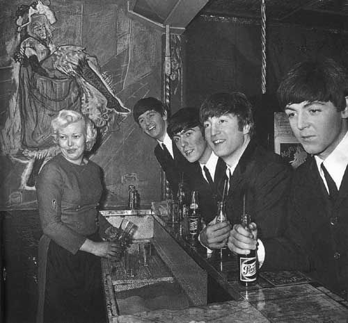 Beatles Drinking Paris