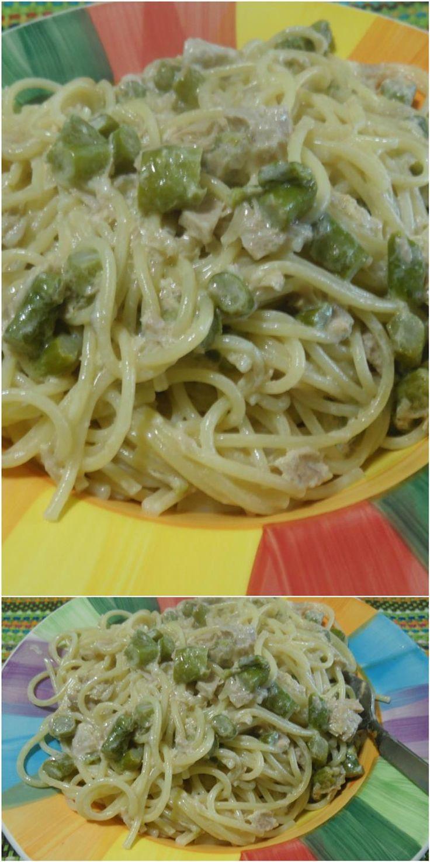 Spaghetti cremosi asparagi e tonno ! #spaghetti #asparagi #primipiatti #ricettegustose
