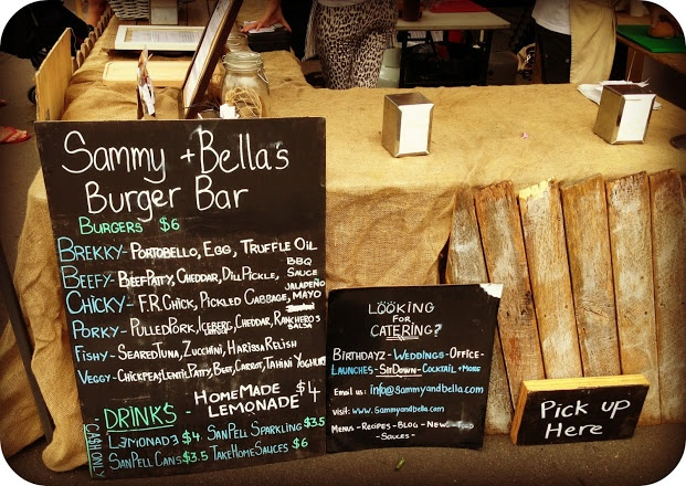 Bondi Markets Sammy + Bella's Burger Bar - scrumptious!!!