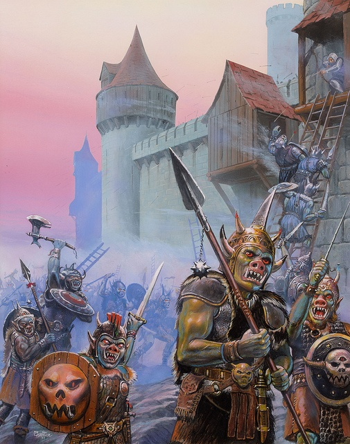 Doug Chaffee - Hordes of Dragonspear, Advanced Dungeons and Dragons paperback cover, 1989 by Aeron Alfrey, via Flickr