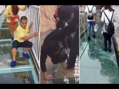 Officially...Archangel641's Blog: Tourists terrified of cracking glass bridge prank....