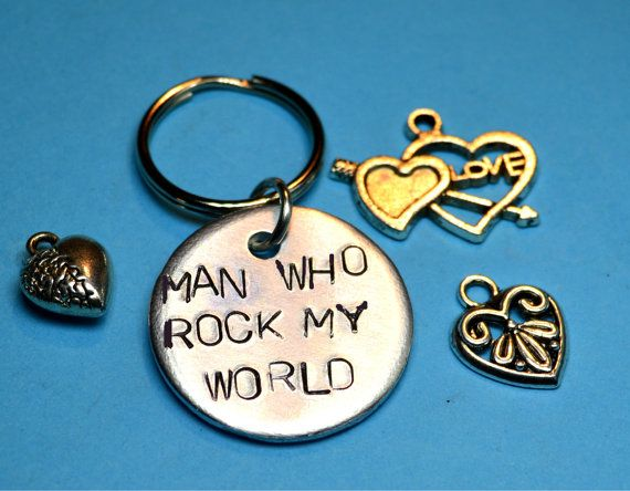 Boyfriend's gift Key ring  Gift for by BeesHandStampedGifts