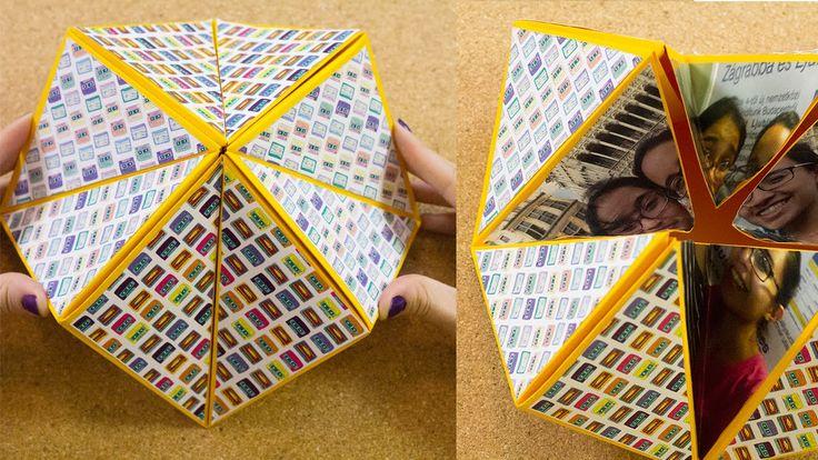 Carta origami flexahedron | Craftingeek Suuuuuuper cute <3 <3