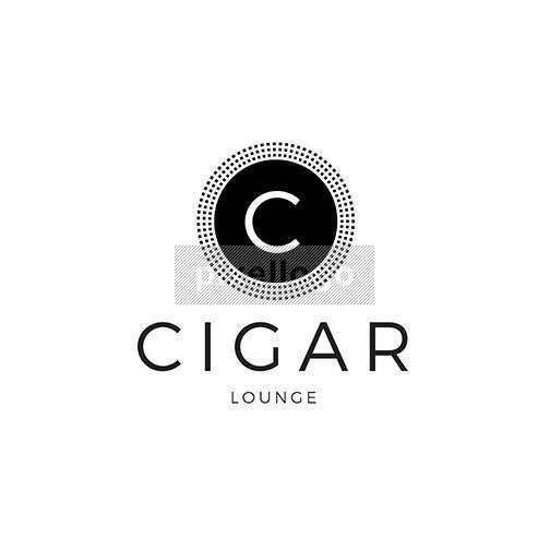 Cigar lounge Logo- Black Emblem Monogram   Logodive