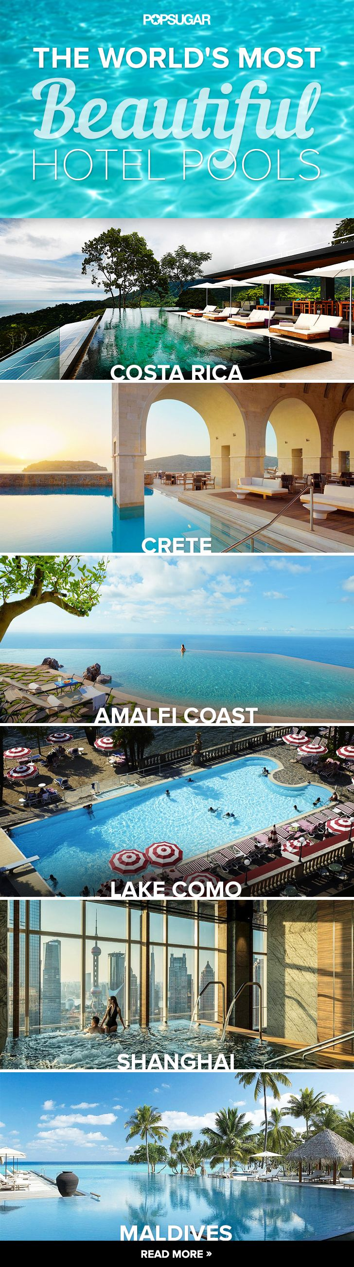 The World's Most Beautiful Hotel Pools - thinking of a holiday destination!
