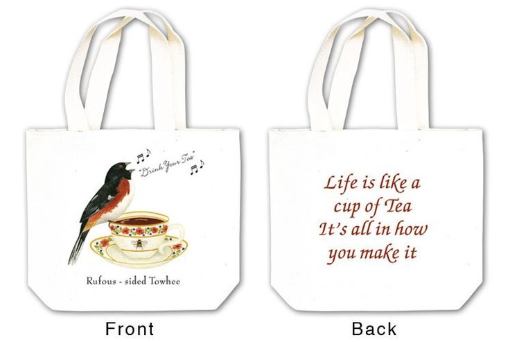 Drink Your Tea Tea Tote with Tea and Spiced Tea Cup Mat