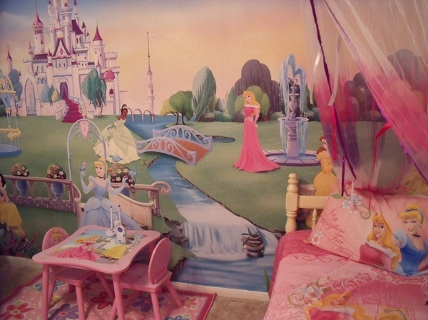 1000 images about princess bedroom furniture on pinterest for Disney princess wall mural tesco